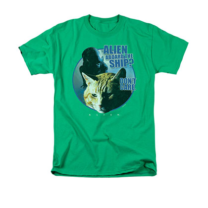 Alien Jonesy Don't Care Green T-Shirt
