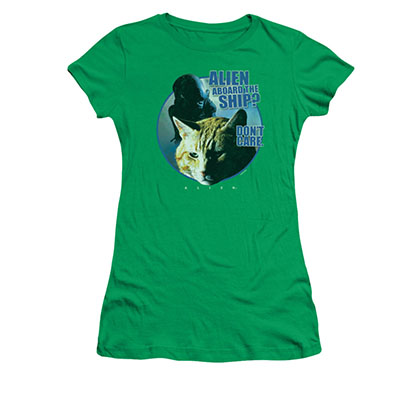 Alien Jonesy Green Juniors T-Shirt