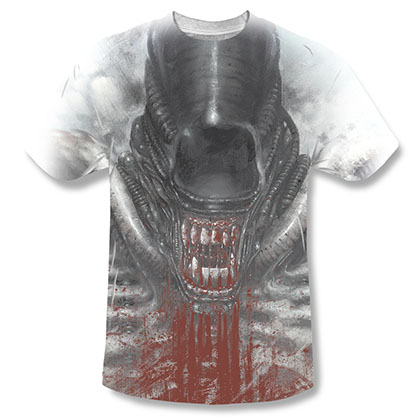 Alien Blood Drool Sublimation T-Shirt