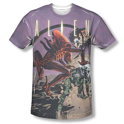 Alien Ready Or Not Comic Sublimation T-Shirt