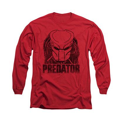 Predator Logo Red Long Sleeve T-Shirt