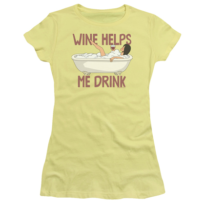Bob's Burgers Wine Helps Me Drink Women's Tshirt