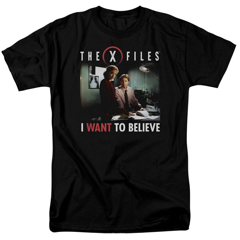 X-Files Want To Believe Mulder and Scully Tshirt