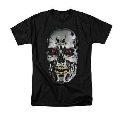 The Terminator Skull Black T-Shirt