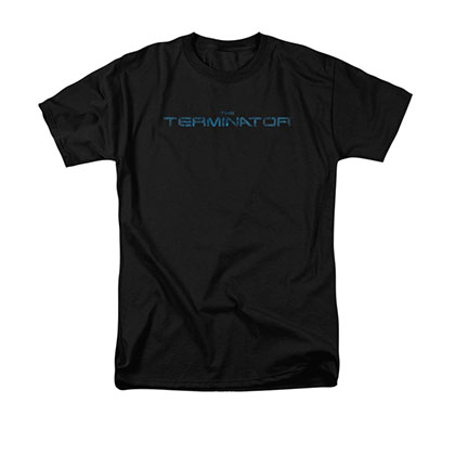 The Terminator Circuit Board Logo Black T-Shirt