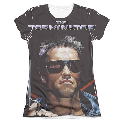 The Terminator Poster Sublimation Juniors T-Shirt