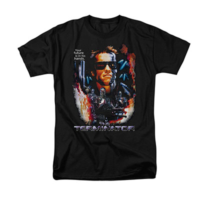 The Terminator Your Future Black T-Shirt
