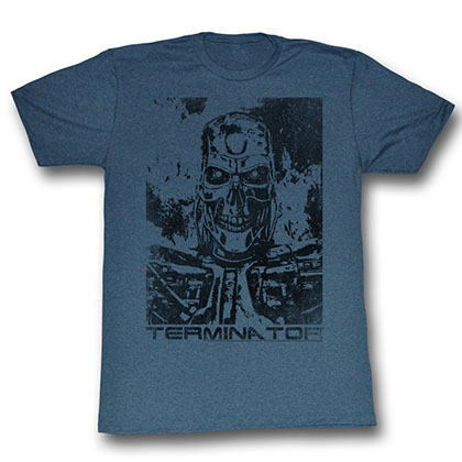 Terminator Black And Blue T-Shirt