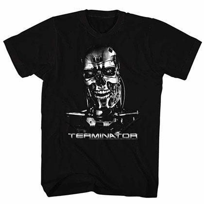 Terminator Chrome Black Tee Shirt