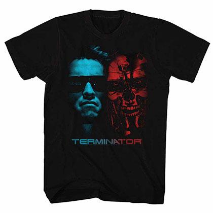 Terminator Face Off Black Tee Shirt
