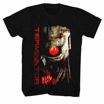 Terminator Red Eye Black Tee Shirt