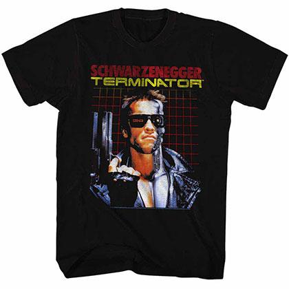 Terminator Grid Black Tee Shirt