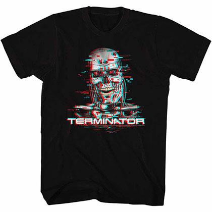Terminator Glitch Black Tee Shirt