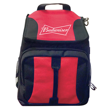 Budweiser Red Beer Can Cooler Backpack