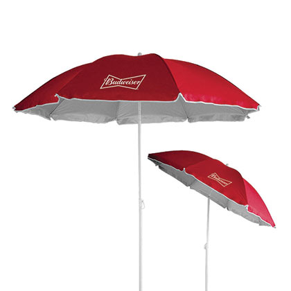 Budweiser Red Beach Umbrella
