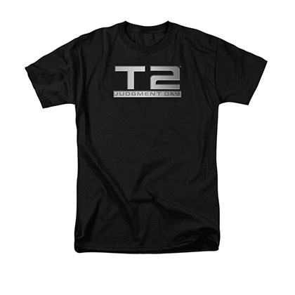 The Terminator 2 Logo Black T-Shirt