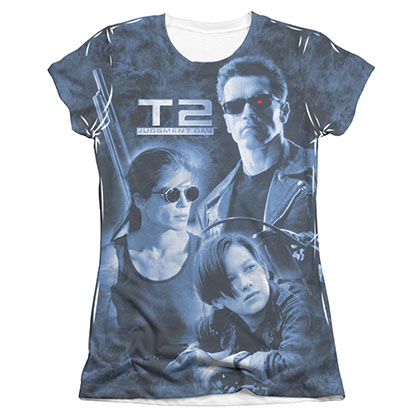 The Terminator 2 Protector & Hunter Sublimation Juniors T-Shirt