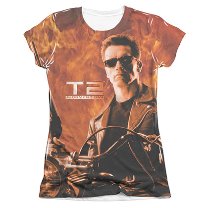 The Terminator 2 Blaze Sublimation Juniors T-Shirt