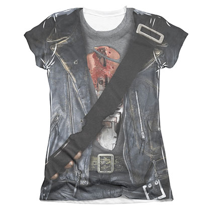 The Terminator T800 Costume Sublimation Juniors T-Shirt