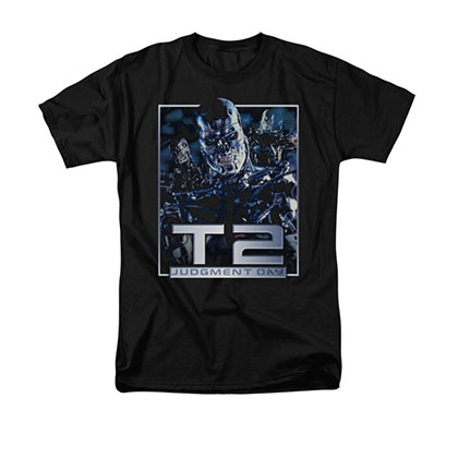 The Terminator 2 Robots Black T-Shirt