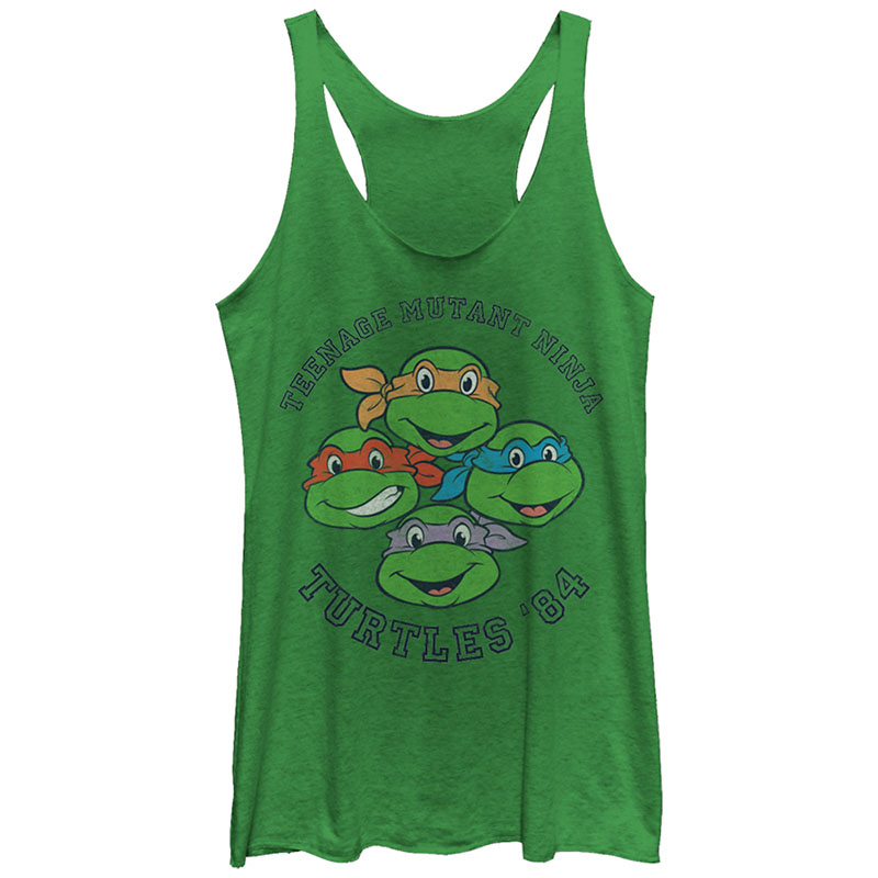 17bc7196278 Teenage Mutant Ninja Turtles Turtles 84 Green Juniors Tank Top