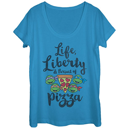 Teenage Mutant Ninja Turtles LLPP Blue Juniors T-Shirt