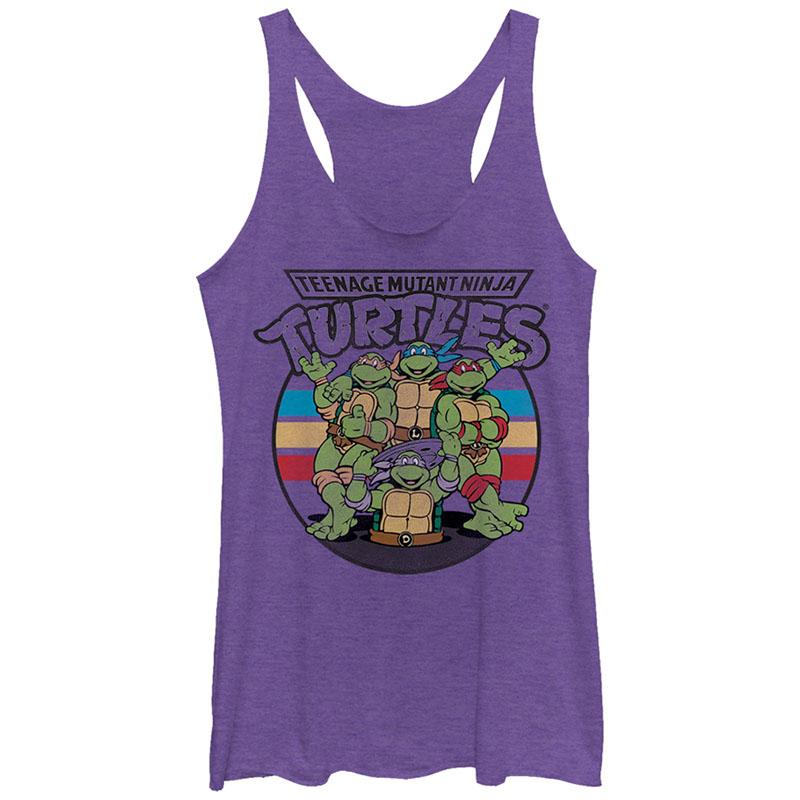 Teenage Mutant Ninja Turtles Retro Spot Purple Juniors Tank Top