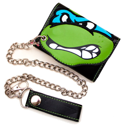 Teenage Mutant Ninja Turtles Leonardo Trifold Chain Wallet