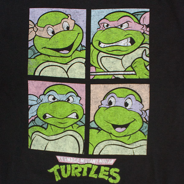 Teenage Mutant Ninja Turtles Black Square Faces TShirt