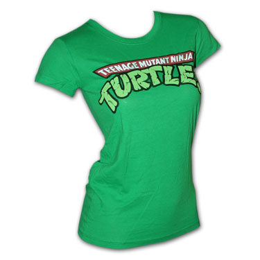 Teenage Mutant Ninja Turtles TMNT Green Juniors Tee