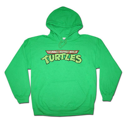 Teenage Mutant Ninja Turtles Distressed Green Hoodie