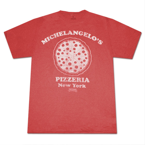 Teenage Mutant Ninja Turtles Michelangelo's NY Pizzeria Red Shirt