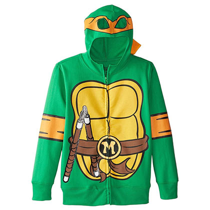Teenage Mutant Ninja Turtles Youth Green Michelangelo Costume Hoodie