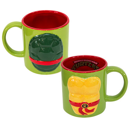 Teenage Mutant Ninja Turtles Green Molded Raphael Coffee Mug