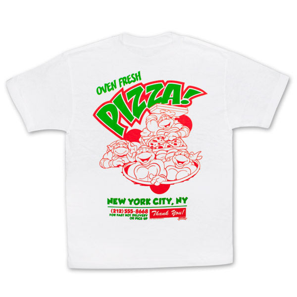Teenage Mutant Ninja Turtles NY Pizzeria White Graphic T Shirt