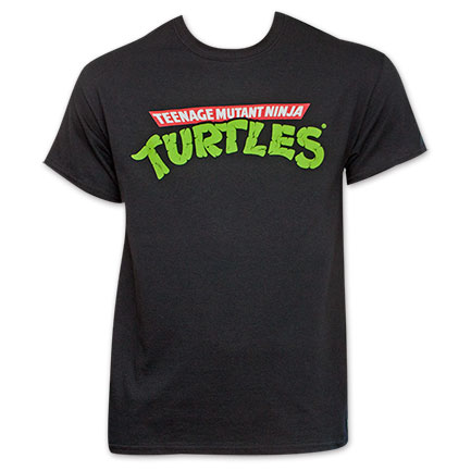 TMNT Black Classic Logo T-Shirt