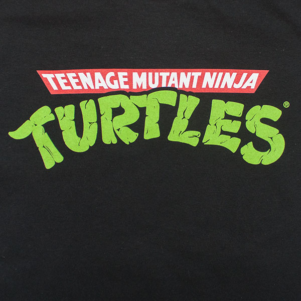 Teenage Mutant Ninja Turtles Logo Black TShirt