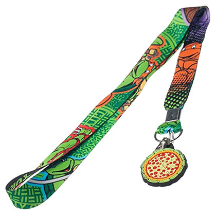 Teenage Mutant Ninja Turtles Green Lanyard And Keychain