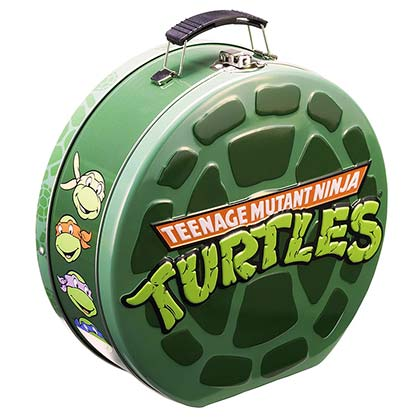 TMNT Green Metal Shell Lunch Box