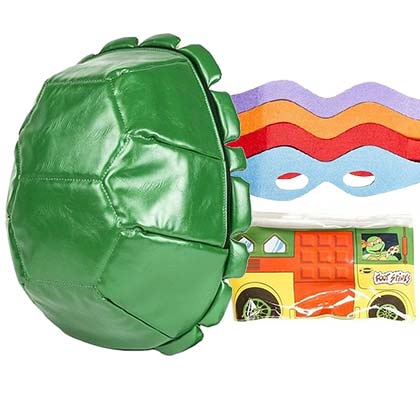 TMNT Cartoon Shell Backpack With Party Wagon and Masks