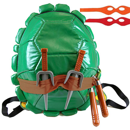 Teenage Mutant Ninja Turtles Shell Backpack With Weapons and Masks