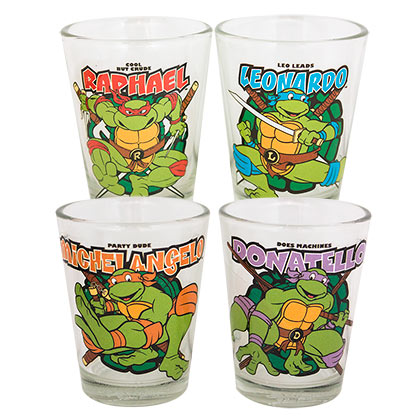 Teenage Mutant Ninja Turtles tMNT Shot Glass Set