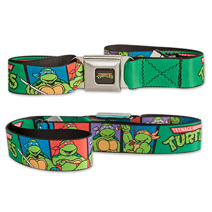 TMNT Panels Seat Belt Buckle Belt