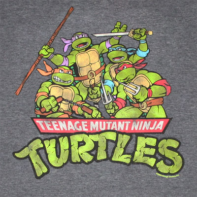 Teenage Mutant Ninja Turtles Group Dark Gray Graphic T Shirt