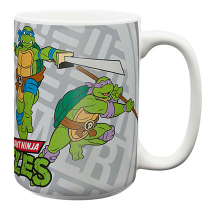 Teenage Mutant Ninja Turtles Jumping TMNT 15oz Coffee Mug