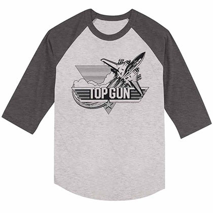 Top Gun Black Gray Tee Shirt