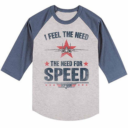 Top Gun Needing Speed Gray Tee Shirt