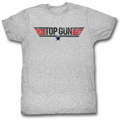 Top Gun Logo Gray Tee Shirt