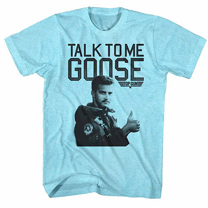 Top Gun Talk To Me Blue Tee Shirt