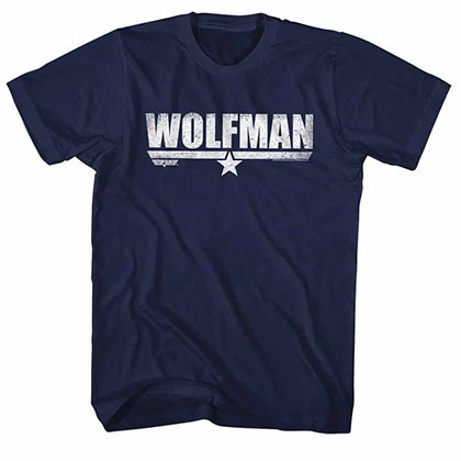 Top Gun Wolfman Blue Tee Shirt